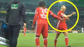 When Football Players Angry After Substitution