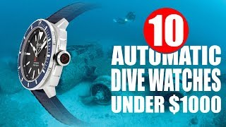 10 Automatic Dive Watches Under 1000 Dollars