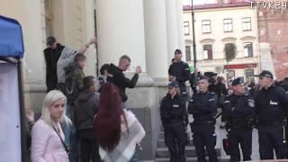 Lublin 05.10.218. Demonstracja przeciwko próbie zakazu Marszu Równości w Lublinie