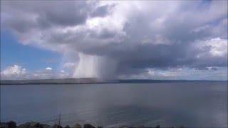 N Ireland weather Cumulonimbus rain cloud dumping rain