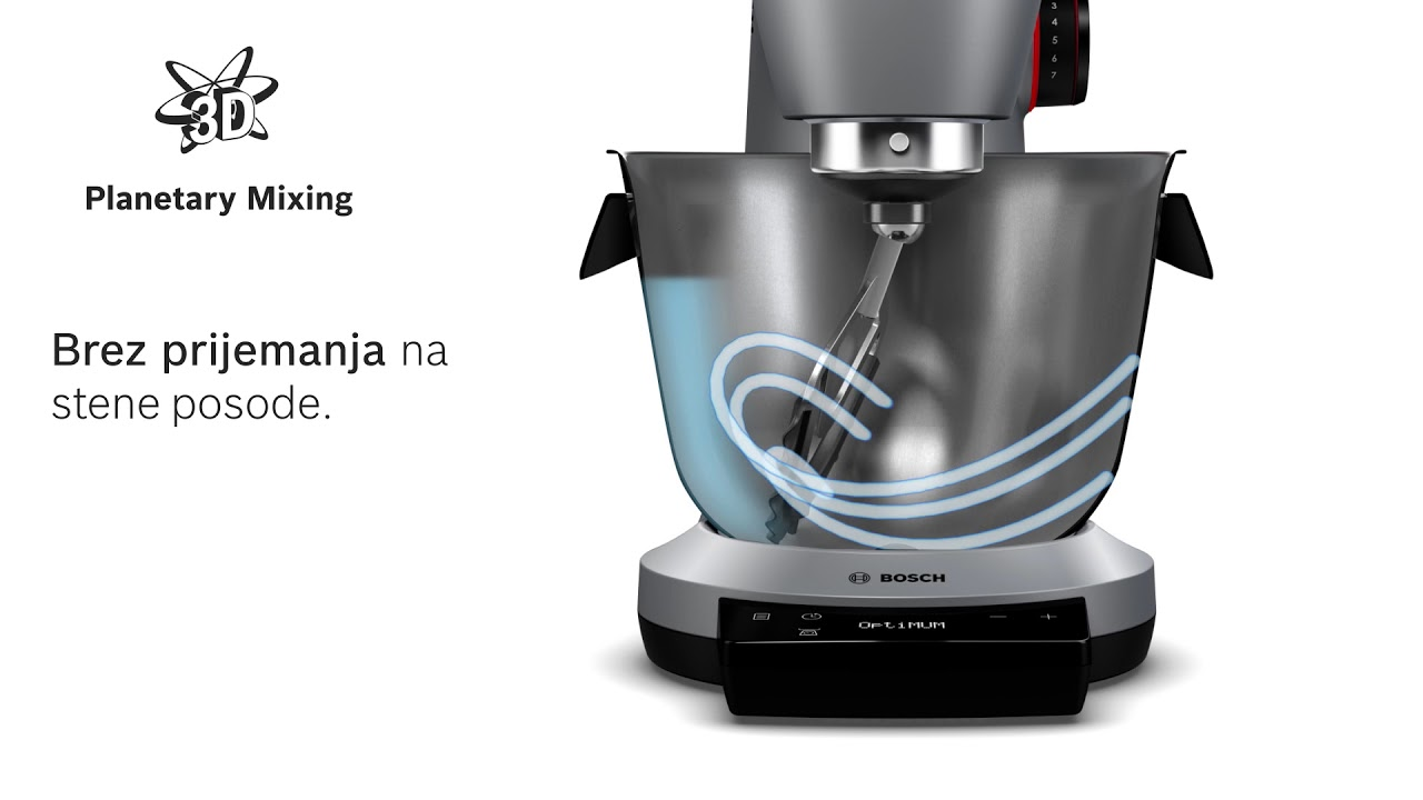 Kuhinjski Aparat Bosch Optimum 3d Planetarno Mesanje Youtube