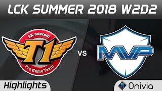 Skt vs mvp highlights game 1 lck summer 2018 w2d2 sk telecom t1 vs mvp by onivia