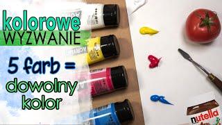 WYZWANIE | Nauka mieszania kolorów | Farby akrylowe i nie tylko!
