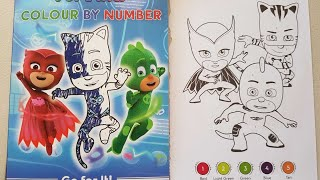 coloring PJ masks heroes|three heros to the rescue color by number page crayola doodle scents marker