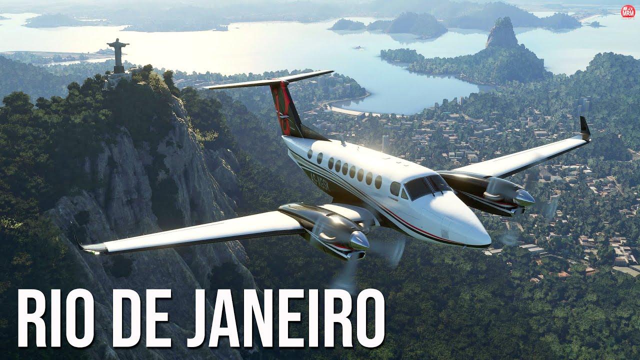 FLIGHT SIMULATOR 2020 - POUSO NO RIO DE JANEIRO, AEROPORTO SANTOS DUMONT