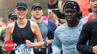 Kevin Hart and Karlie Kloss Run NYC Marathon | Daily Celebrity News | Splash TV