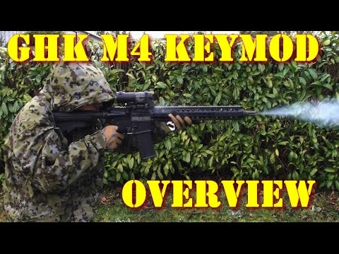 Airsoft - Samoon - GHK M4 Keymode Mod2 GBBR overview [ENG subs]