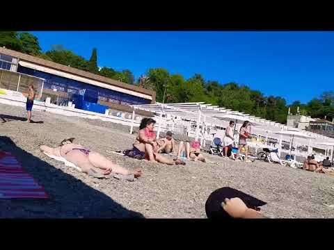 Сочи 2020 Онлайн. Пляж Приморский Забит! - YouTube
