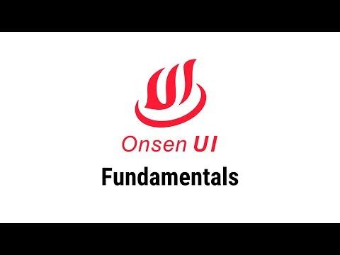 Onsen UI - Fundamentals