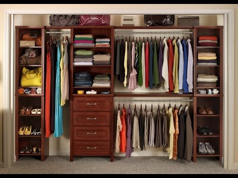 Wooden Closet Organizer Youtube