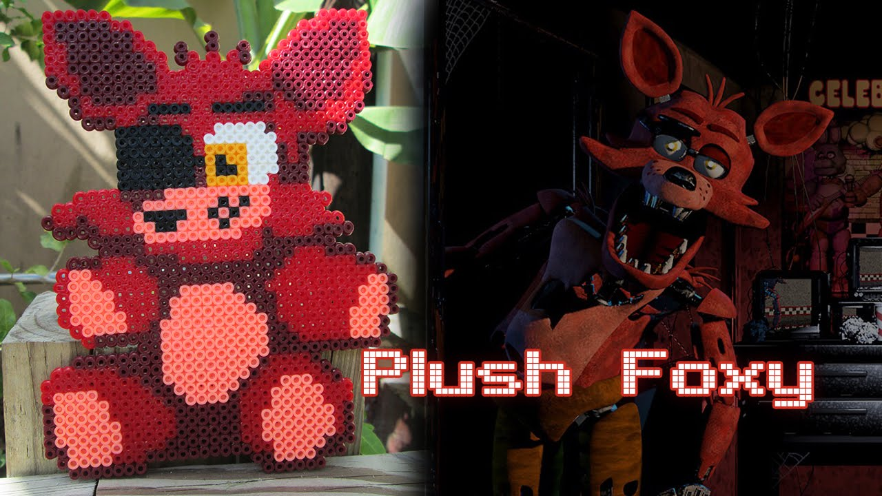 How to make your own five nights at freddys foxy plush - Plush Foxy From Fnaf Timelapse Perler Hama Arktal Beads Youtube