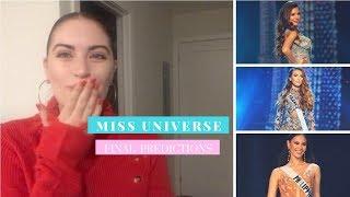 MISS UNIVERSE 2018 FINAL PREDICTIONS   Top 20, Top 3 Video