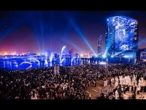 Dubai Festival Center Waterfront Projection Show