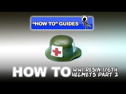 """PAINTING WW1 RESIN HELMETS (1/6TH SCALE) - """"HOW TO"""" GUIDE #2"""