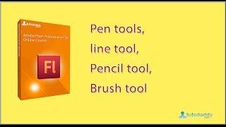 Pen tool   line tool   Pencil tool   Brush tool in Flash CS6 Tutorial