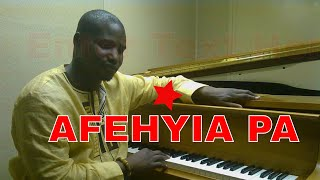 Ghana Piano Tutorial  Afehyia Pa ( Kay Benyarko Highlife piano Tutorial )