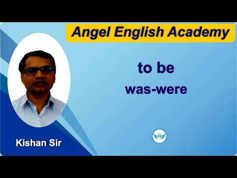 Use of to be form was-ware in English grammar [Gujarati]