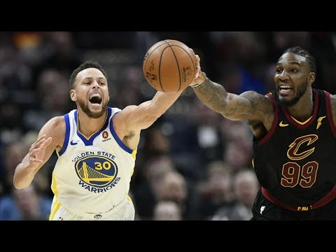 LeBron James vs Kevin Durant! Stephen Curry Dunk! Warriors vs Cavs 2017-18 Season