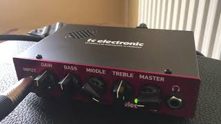 TC Electronics Bam 200 Bass Amp Head Unboxing and Review (Headphones recommended)