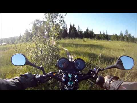 Adventure touring in Scandinavia on Yamaha YBR 125