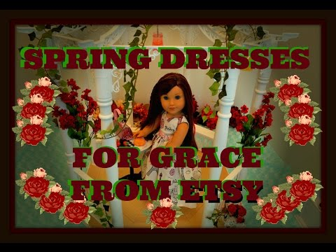 Surprise! ~ Spring Dresses ~ For Grace American Girl Doll  From Etsy!