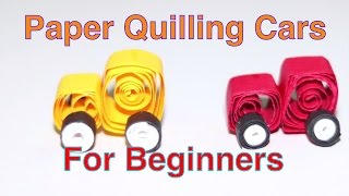 Paper Quilling car for beginners | Paper quilling designs