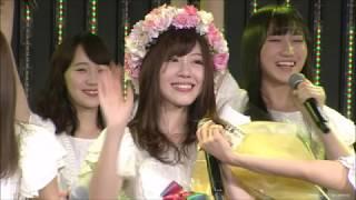 NMB48の松村芽久未が12月19日、大阪・NMB48劇場で、卒業...