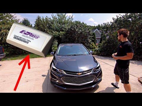 Installing an E-ZPass Transponder on a 2017 Chevrolet Cruze