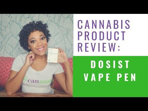 CBD THC Vape Pen Review - How to use the Dosist Vape Pen - YouTube
