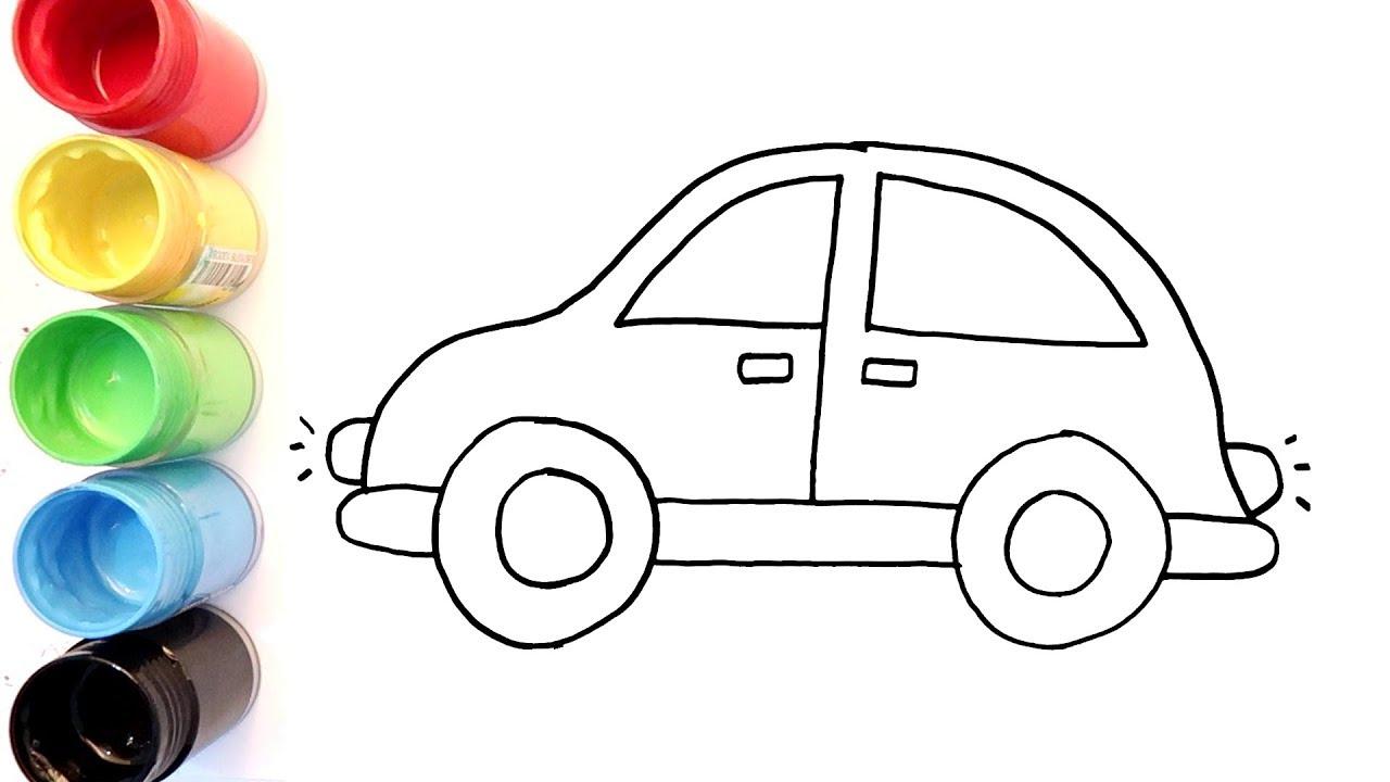Cara Menggambar Dan Mewarnai Mobil Untuk Anak Anak Youtube