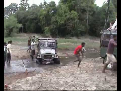 Шри-Ланка. Sri Lanka. Rescuing of the jeep