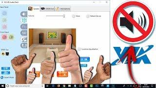 Problema de Áudio no Windows 10 | Via HD Áudio Deck Driver 64 bits - ainda funcionando.