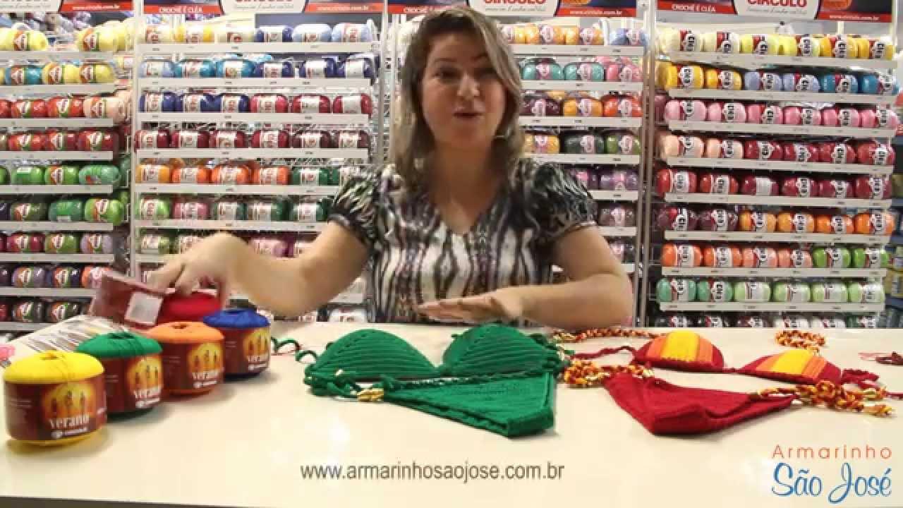 5e6b34beead6 Biquíni de crochê com Verano - por Simone Eleotério no Armarinho São José -  YouTube