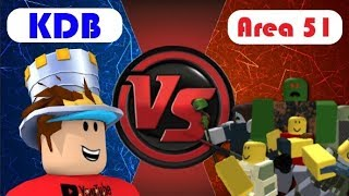 KDB VS Area 51 - tower difence roblox (Nederlands)