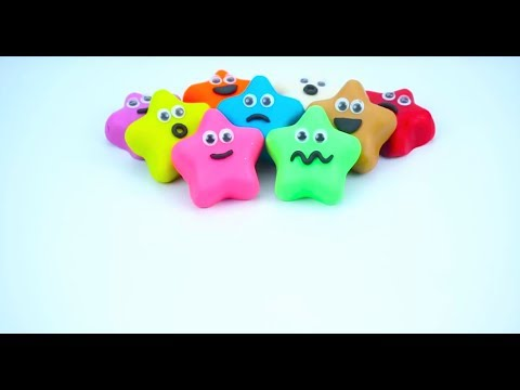 Learn and Play color distinction With Play Doh Stars