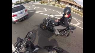 wr250x and yamaha r1 raw footage ride up to the base of ortega highway supermoto