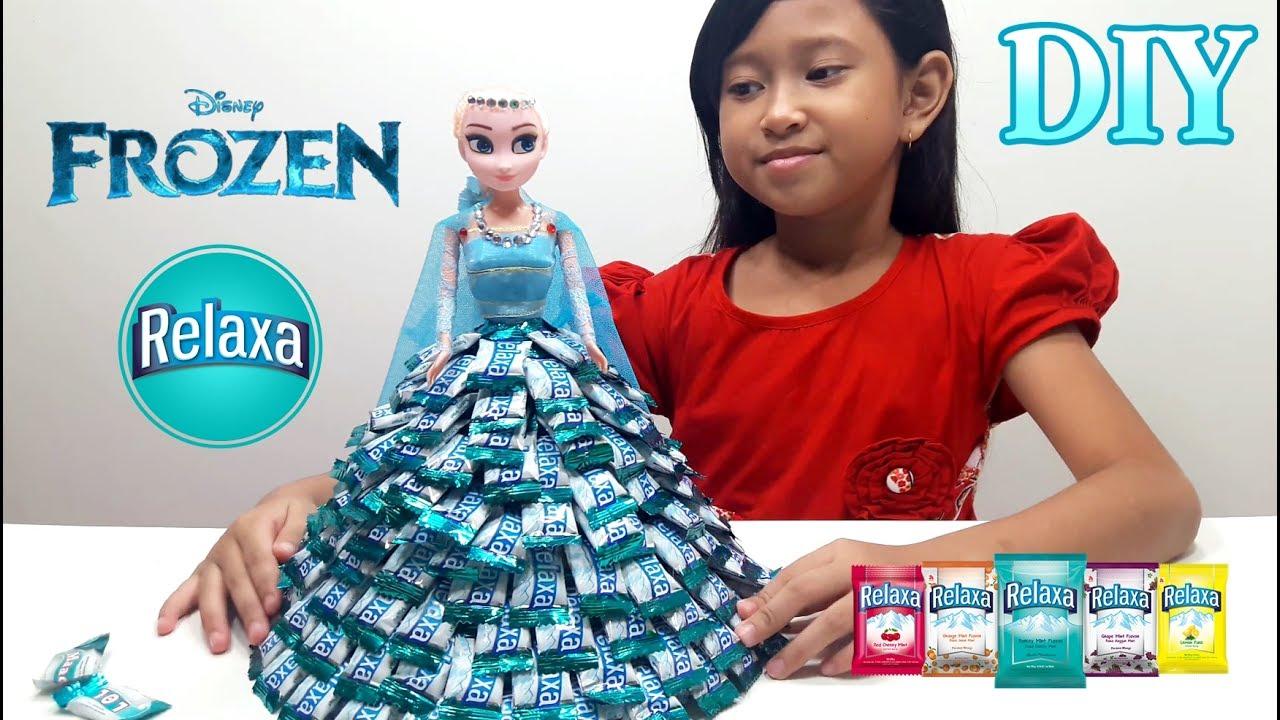 Jessica Membuat Baju Elsa dari Permen RELAXA 💖 Mainan Anak Boneka ... 6ea0301e9f