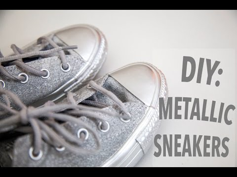 beade4accd63 What To do With Old Converse  DIY Metallic Sneakers - YouTube
