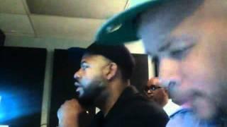 James Fortune in studio with Aaron Lindsey & Nikki Ross