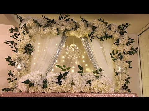 DIY- chandelier floral backdrop in multiple color /style DIY- beautiful backdrop DIY- wedding decor