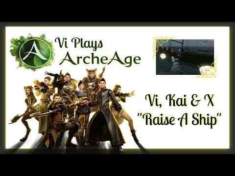 ARCHEAGE Game Play - Raising A Ship - Trade Pack Run