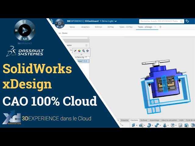 3DEXPERIENCE ® - SolidWorks xDesign, CAO sans installation
