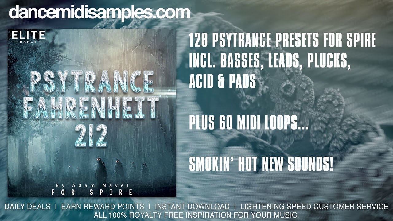 Psytrance Fahrenheit 212 For Reveal Sound Spire VST/ AU