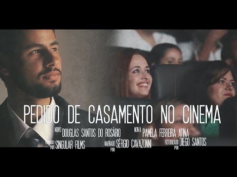 Pedido de casamento criativo no cinema - Praia Grande  [Douglas e Pamela] Marriage Proposal