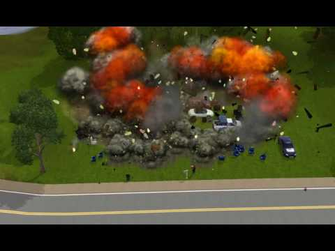how to get a massive house fire in sims 3