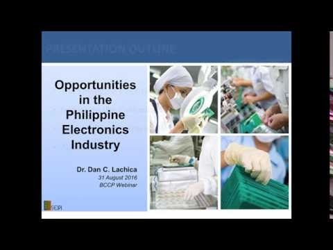 BCCP Webinar: Opportunities in the Philippine Electronics Industry