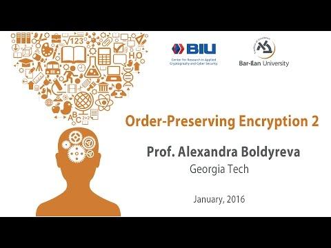 Prof. Alexandra Boldyreva: Order-Preserving Encryption 1