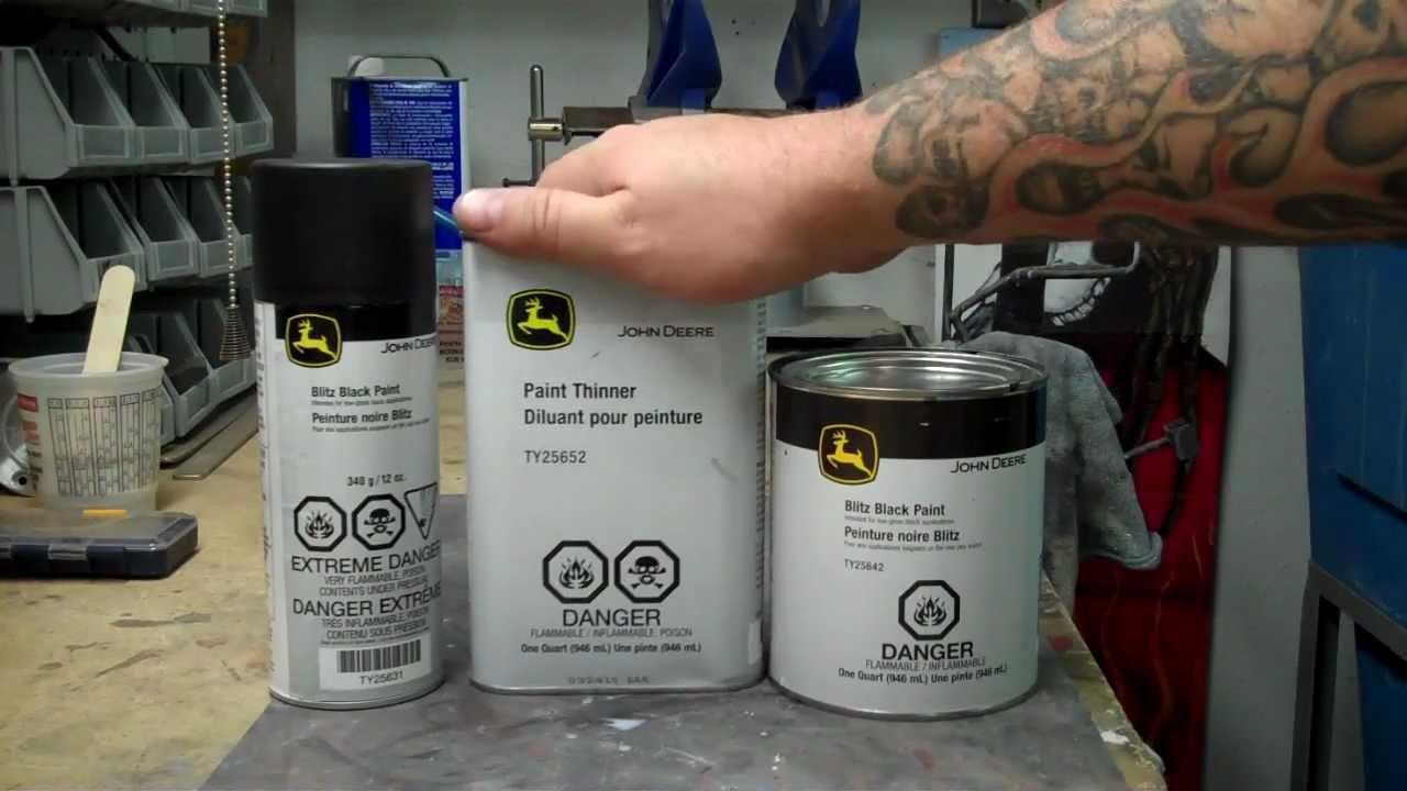 John Deere Muffler Black Paint