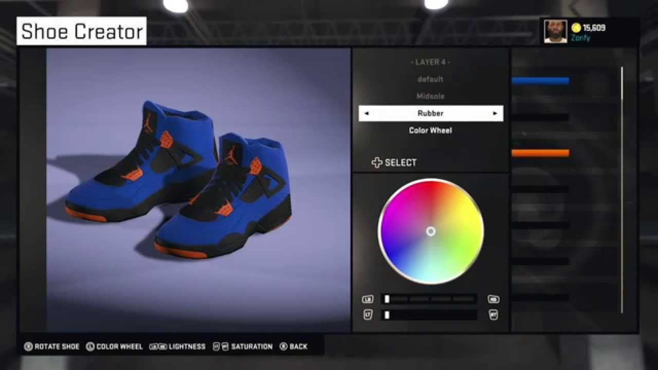 9836c7cf71 NBA 2K15 Shoe Creator - Air Jordan 4 Custom