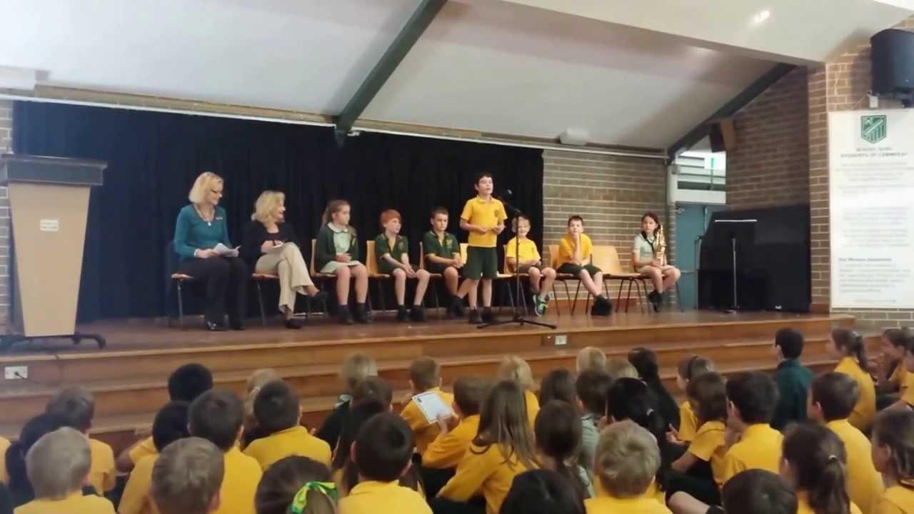 Jack  Cammeray School A Day Speak Offs 2013